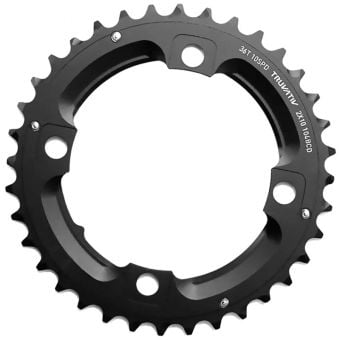 Truvativ 10S 104BCD AL5 S1 49CL No Pin MTB Chainring Blast Black 36T