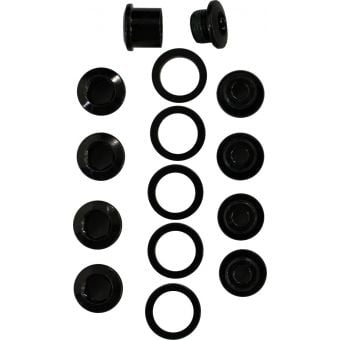 TRUVATIV 5-arm Single Speed Steel Chain Ring Bolt Kit with Spacer Black
