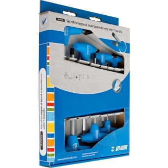 Unior Box-Set 7pcs T-Handle HEX Keys