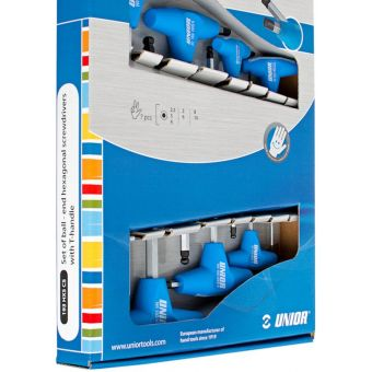 Unior 7pcs Ball End T-Handle HEX Keys Box-Set