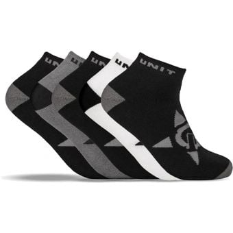 UNIT Lo-Lux Bamboo 5 Pack Socks Black/White/Charcoal 2021