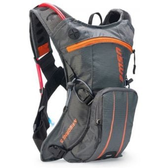 USWE Airborne 3 Elite Hydration Pack w/ 2L Elite Reservoir Grey/Orange