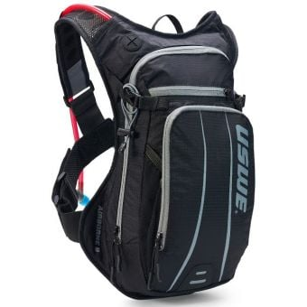 USWE Airborne 9 Elite Hydration Pack w/ 3L Elite Reservoir Black/Grey