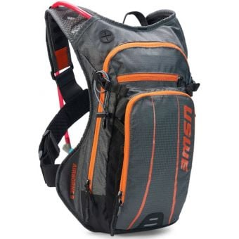 USWE Airborne 9 Elite Hydration Pack w/ 3L Elite Reservoir Grey/Orange