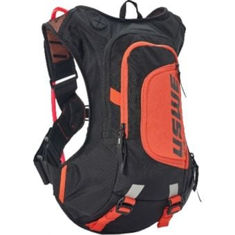 USWE Raw 8 Hydration Backpack with 3L Bladder Carbon Black
