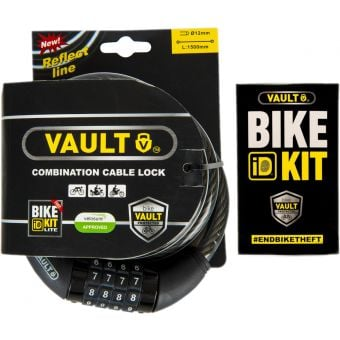 VAULT Combination Cable Lock w/ Bike ID Kit