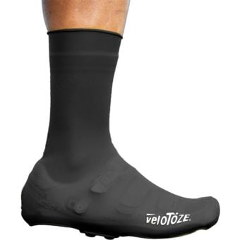 veloToze Tall Silicone Shoe Cover with Snaps Black