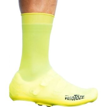 veloToze Tall Silicone Shoe Cover with Snaps Yellow