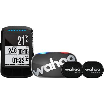 Wahoo ELEMNT BOLT Stealth Edition GPS Bike Computer Bundle (includes TICKR Stealth)