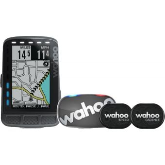 Wahoo ELEMNT ROAM GPS Bike Computer Bundle (includes TICKR Stealth)