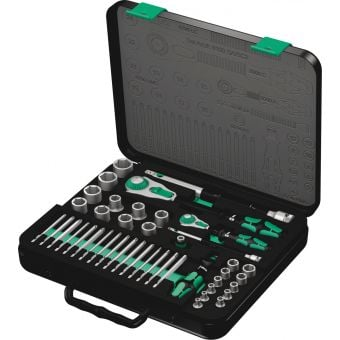 "Wera 43 Piece Metric 1/4"" & 1/2"" Drive Zyklop Speed Ratchet Set"