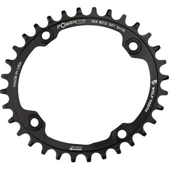 Wolf Tooth 104 BCD 32T Elliptical 12sp Chainring Black 32T
