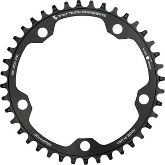 Wolf Tooth Gravel/CX 130 BCD 1x Drop Stop FlatTop Chainring Black