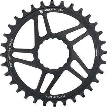 Wolf Tooth Shimano DirectMount Boost Shimano 12sp Chainring Black 32T