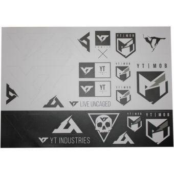 YT Assorted Sticker Sheet Black/White