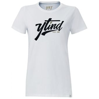 YT College SS Womens T-Shirt White