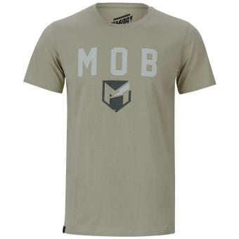 YT Mob Font SS T-Shirt Olive Green