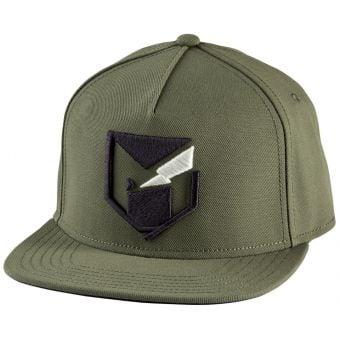 YT Mob Logo Snapback Cap Dark Olive