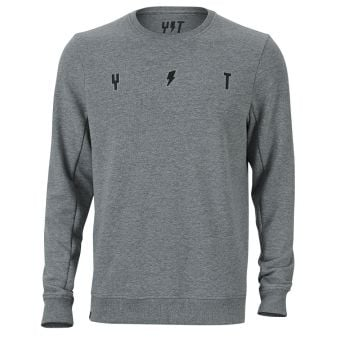 YT Simple Crew Neck Sweater Grey Heather