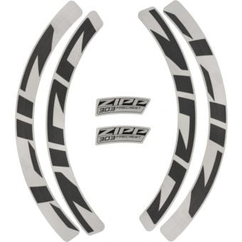 Zipp 303 Rim Brake Wheel MY21 Decal Kit Grey
