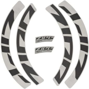 Zipp 404 Disc Brake/Rim Brake Wheel MY21 Decal Kit Grey