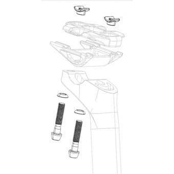 Zipp Bolt Kit for Service Course SL Seatpost B1 Black