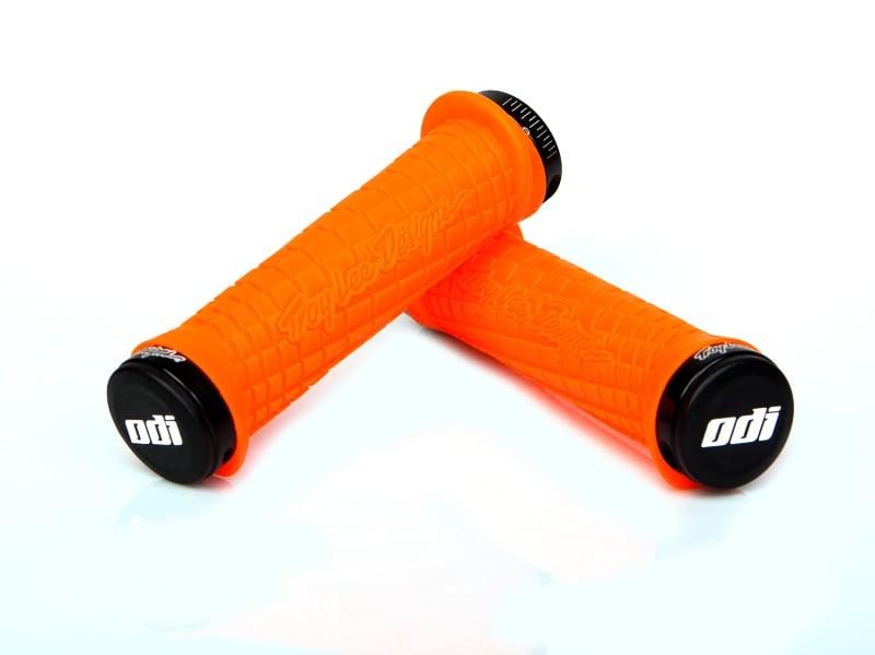 ODI TROY LEE Lock-ON Locking BMX MTB Mountain Grips Bonus Pack pr BRIGHT ORANGE