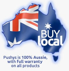 By with confidence, buy local, Pushys is 100% Australian Owned