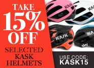 Selected Kask Helmets 15% Off