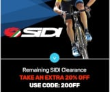 Extra 20% Off remaining SIdi Clearance