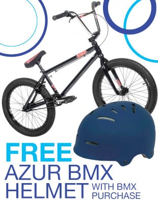 bmx helmet giveaway with selected bikes On Sale